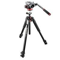 Manfrotto MT055XPRO3 Aluminium Tripod Legs with MVH502AH Video Head
