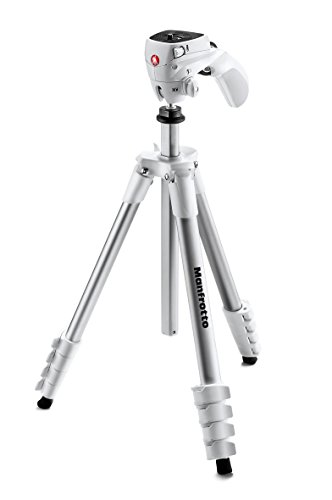 Manfrotto MKCOMPACTACN-WH Compact Action Tripod (White)