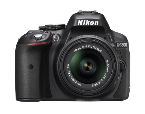 Nikon D5300 24.2 MP CMOS Digital SLR Camera with 18-55mm f/3.5-5.6G ED VR II AF-S DX NIKKOR Zoom Lens (Black) (Refurbished)