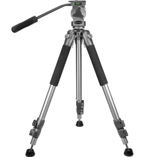"BARSKA Professional Tripod, Extendable to 66"" w/ Carrying Case"