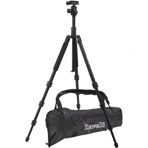 "Ravelli APGL5 Professional 65"" Ball Head Camera Video Photo Tripod with Quick Release Plate and Carry Bag"