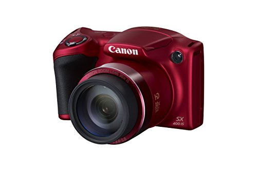 Canon Powershot SX400 IS 16.0 MP Digital Camera with 30x Optical Zoom and 720p HD Video (Red)