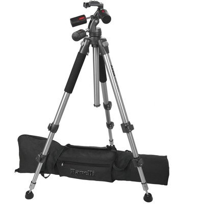 Ravelli APGL3 Professional 66-inch Three Axis Head Camera Video Photo Tripod with Quick Release Plate and Carry Bag