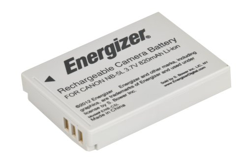 Energizer ENB-C5L Digital Replacement Battery NB-5L for Canon IXUS 970 IS, PowerShot SD900 and SX210 IS (Grey)