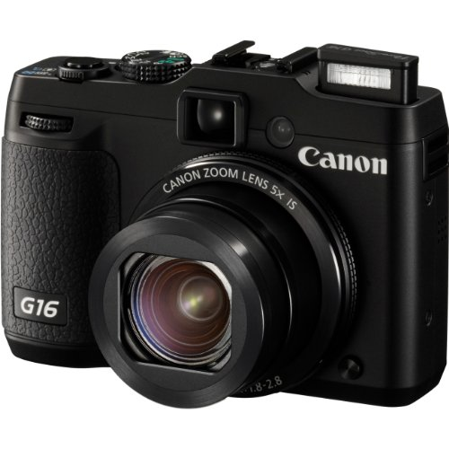 8406B001 Powershot G16 Black 12.1MP CMOS Canon Digital Point & Shoot Camera
