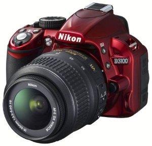 Nikon D3100 Digital SLR Camera & 18-55mm G VR DX AF-S Zoom Lens (Red)