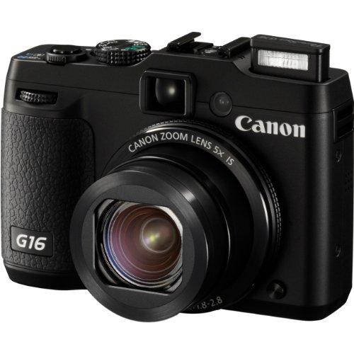 8406B001 Powershot G16 Black 12.1MP CMOS Canon Digital Point & Shoot Camera